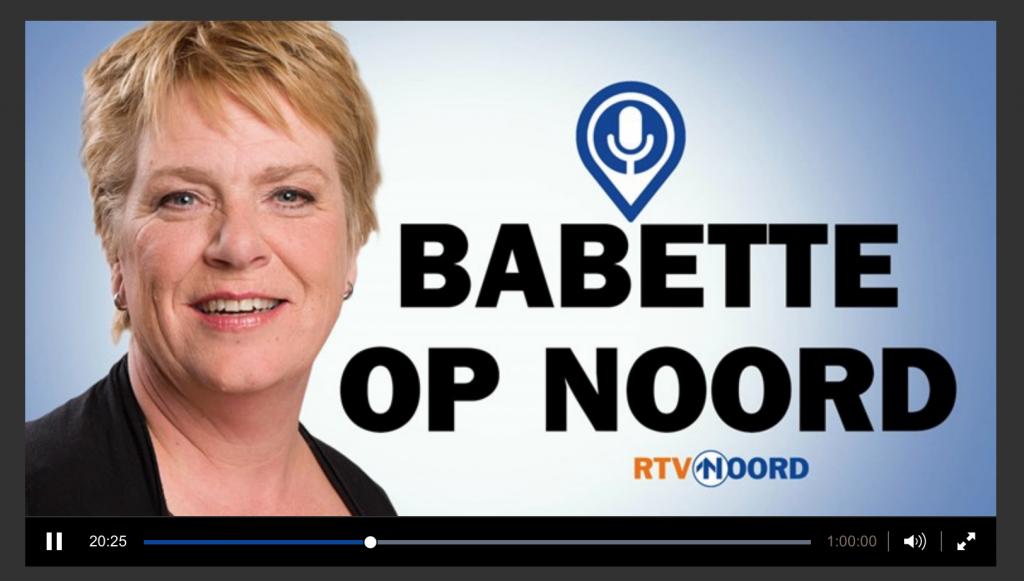 Derk Bosscher interviewt Agnes Bakker vanaf minuut 20'25